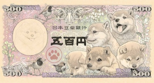 Artist Designs Shiba Inu-Inspired Japanese Bank Notes That Are Too Cute to Spend