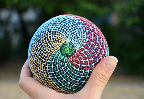 Hand-Embroidered Temari Balls Feature Strikingly Intricate Patterns