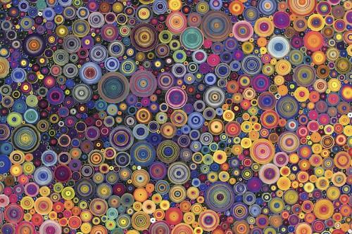 Artist Arranges Scrolls of Hand-Dyed Paper into Kaleidoscopic Relief Sculptures