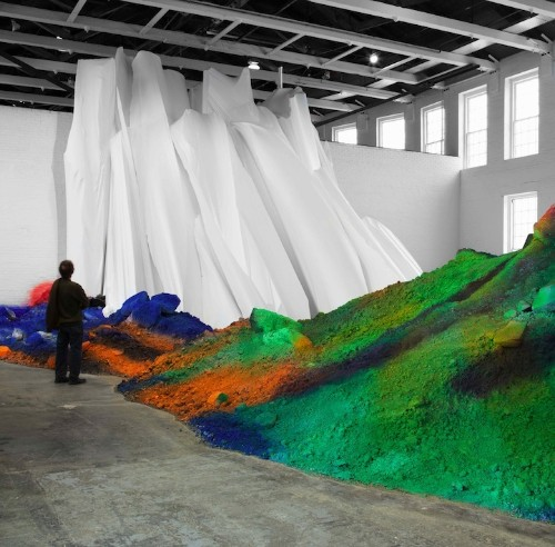 Colorful Mounds of Dirt Transform a Gallery Space
