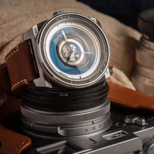 This Camera Lens-Inspired Watch Is the Perfect Timepiece for Photography Lovers