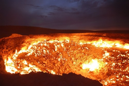 "Crater Burning for Over 40 Years is a ""Door to Hell"""