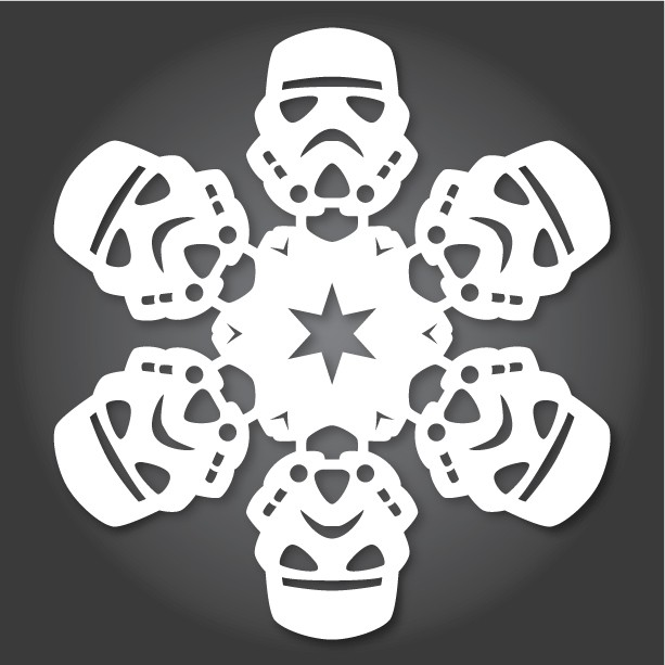 New DIY Star Wars Snowflakes