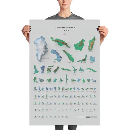 Eye-Opening Poster Chronicles and Compares the 100 Largest Islands in the World