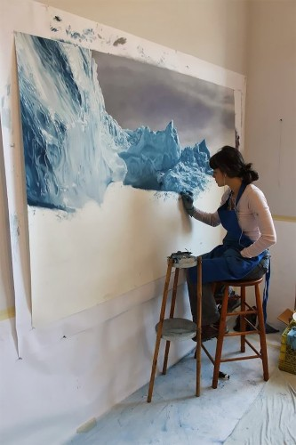 Artist Brings Awareness to Climate Change Through Pastel Drawings