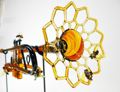 Playful Trumpets Made Entirely of Glass Emphasize the Harmonious Beauty of Nature