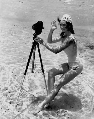 Playful Scenes Captured Subsurface by the Pioneer of Underwater Photography in 1938