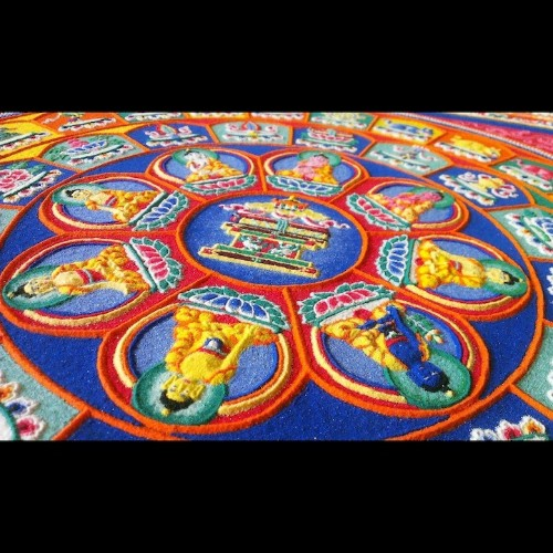 Tibetan Monks Painstakingly Create Incredible Mandalas Using Millions of Grains of Sand