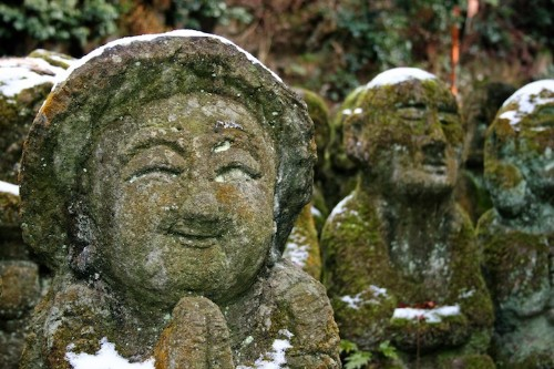 1,200 Whimsical Stone Statues at Buddhist Temple in Kyoto