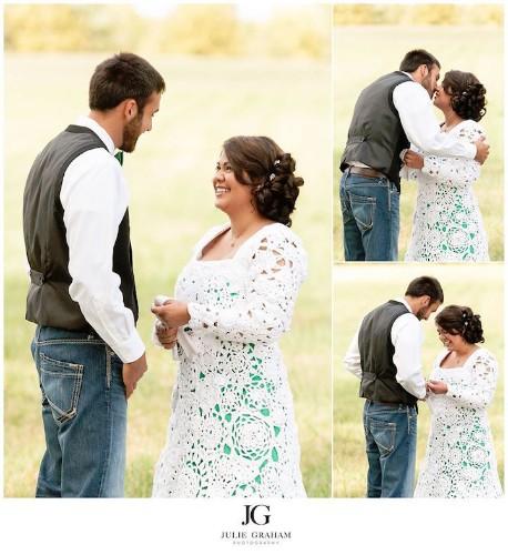 Bride Spends 8 Months Crocheting Her Own $70 Wedding Dress