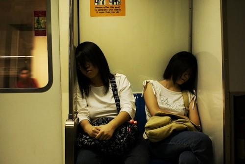 Photographs Capture Still Moments Amid the Rush of Daily Life