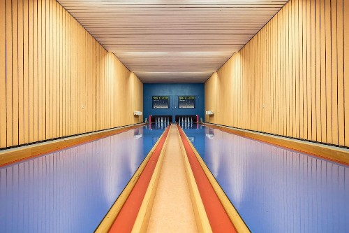 German Bowling Alleys Look Like They're from a Wes Anderson Film