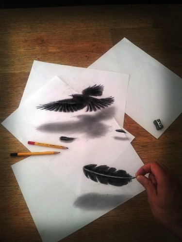 Mind-Boggling 3D Drawings on Flat Sheets of Paper
