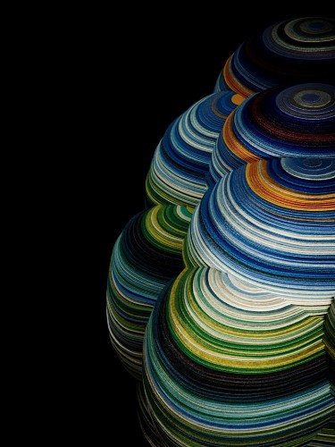 2,700 Feet of Fabric Layered Into Colorful Chair Design