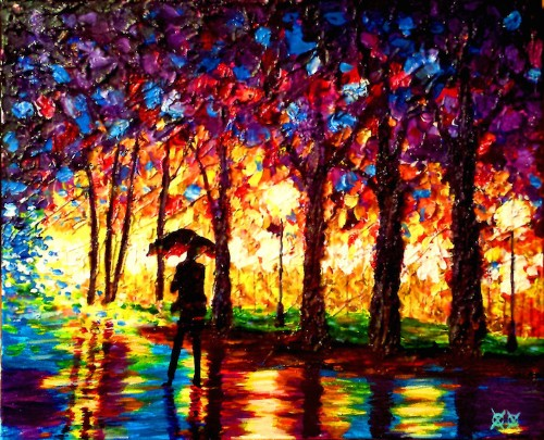 Blind Artist Relies on Touch and Texture to Create Stunningly Vivid Paintings
