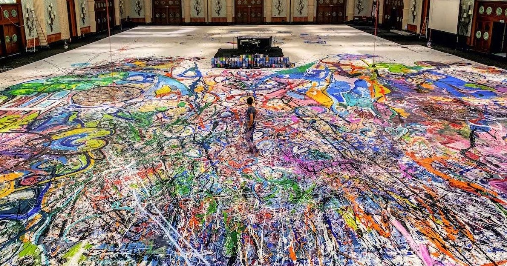 Artist Paints World's Largest Canvas to Raise $30 Million for Children in Need [Interview]