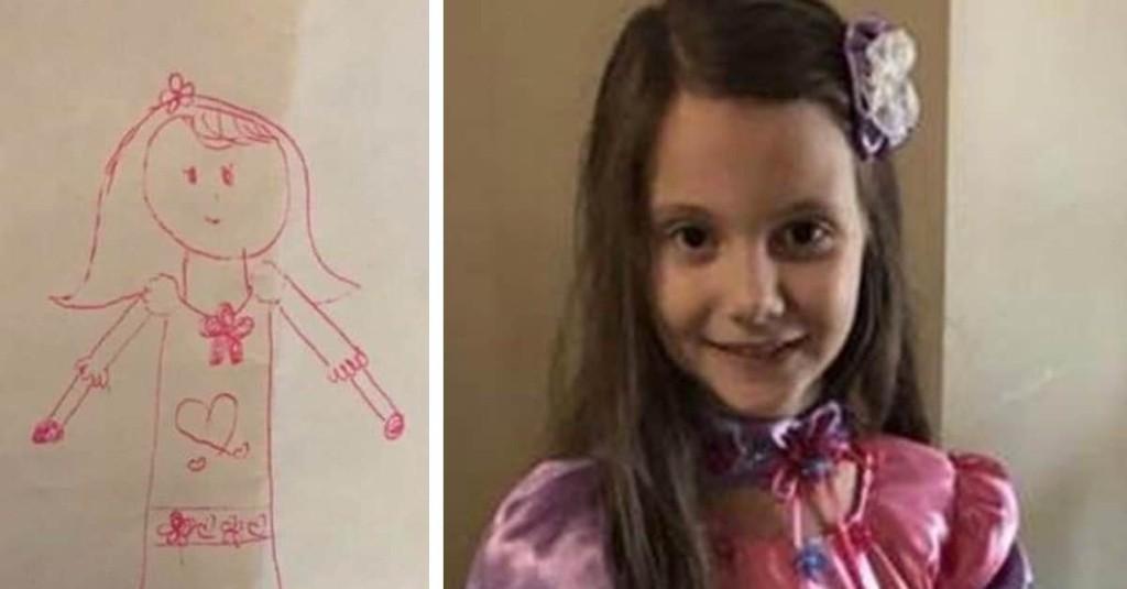 Little Girl Drew Her Dream Dress, So Her Loving Grandma Actually Made It For Her