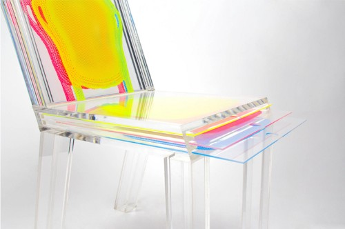 Customizable Transparent Chair Uses Removable Sheets of Plastic to Easily Alter Its Appearance
