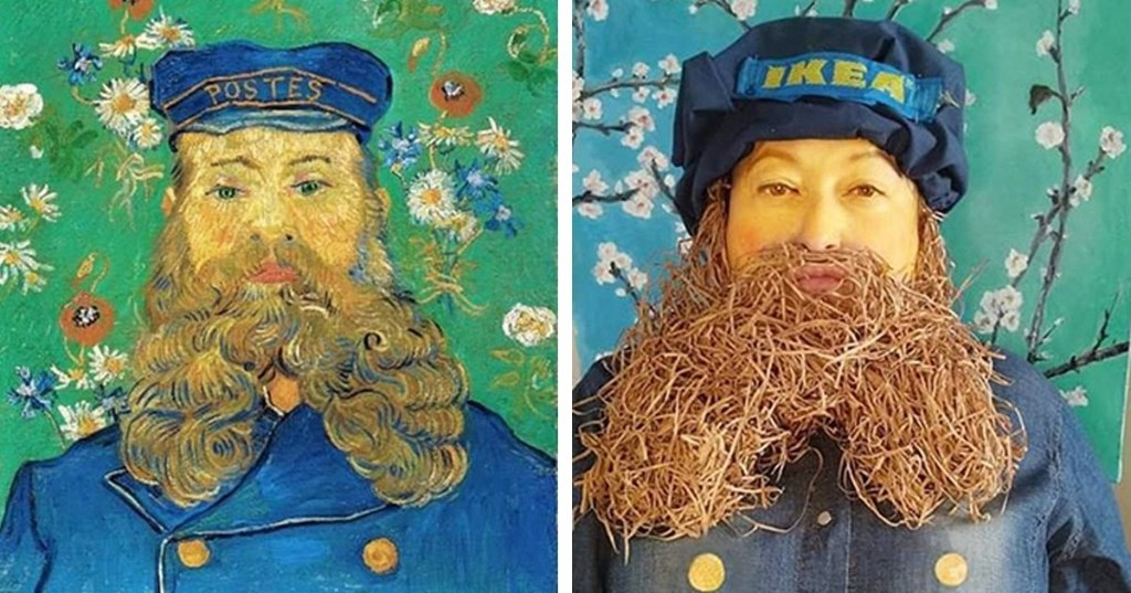 Spanish Facebook Group Has People Transforming Themselves Into Artwork While in Quarantine