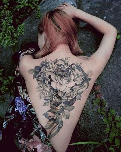 Delicate Nature-Inspired Tattoos are Perfectly Placed on the Wearer's Body