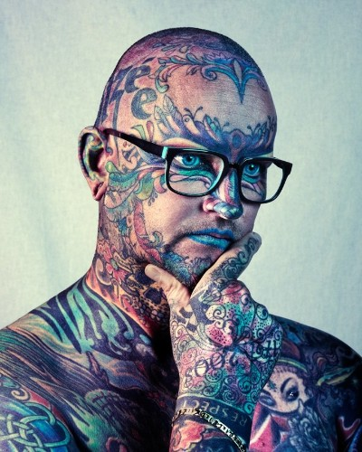 Colorful Portraits of Attendees at the London Tattoo Convention