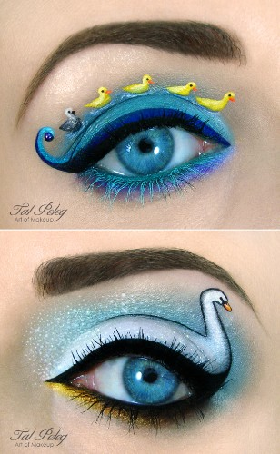 Creative Eye Makeup Illustrations by Tal Peleg
