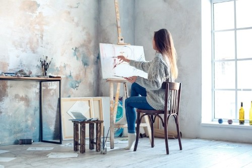 Here's Everything You'll Need to Set Up Your Own Home Art Studio