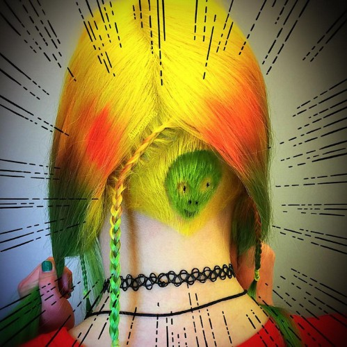 """""""Hidden Hair Illustration"""" Trend Reveals Colorful Characters Shaved Underneath Luscious Locks"""