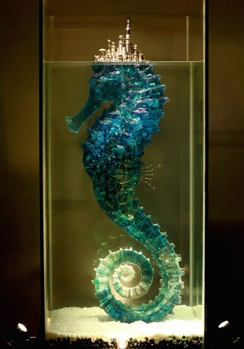 Dreamy Seahorse-City Sculpture Explores Relationship Between Man and Nature