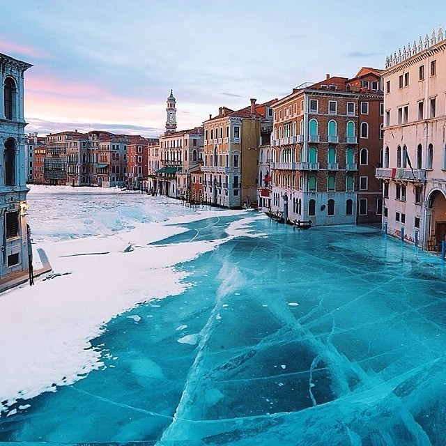 Surreal Images Show What Venice Would Look Like if it was Completely Frozen
