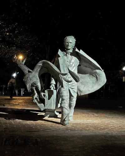 Ghostly Edgar Allen Poe Sculpture is Unveiled in Boston