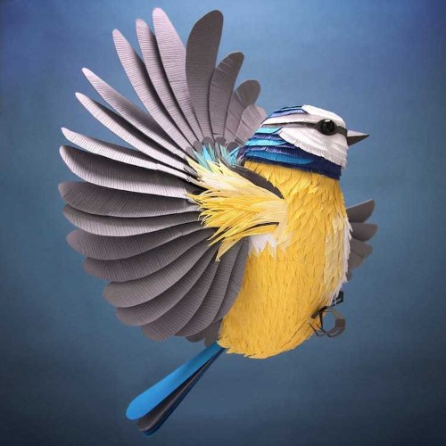 Hand-Cut Paper Sculptures Capture the Vibrant Energy of Animals