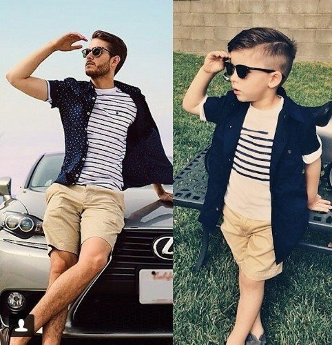 Adorable 4-Year-Old Boy Mimics Male Fashion Models