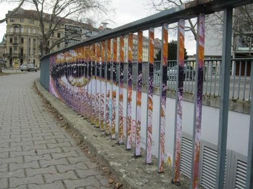 More Hidden Street Art on Railings by Zebrating