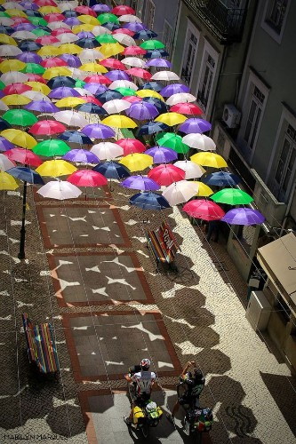 New Colorful Canopy of Umbrellas Graces the Streets of Portugal