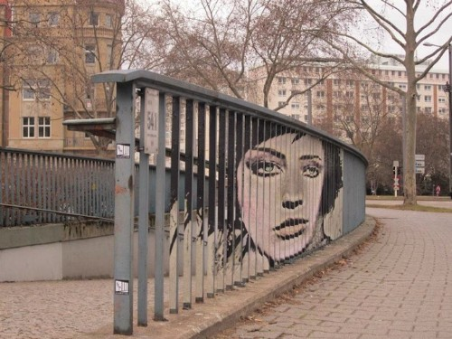 More Hidden Street Art on Railings by Zebrating