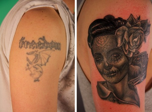Creative Before and After Tattoos Transform Bad Body Art into Incredible Ink