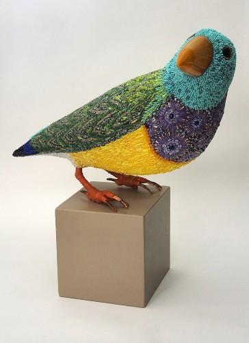 Beautiful Mosaic Bird Sculptures by Dusciana Bravura