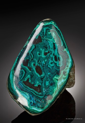 Intensely Green Malachite Crystals Look like They're Covered in Drops of Vibrant Paint