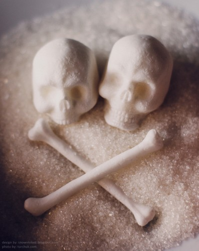 Incredibly Detailed Skull-and-Bones Sugar Cubes