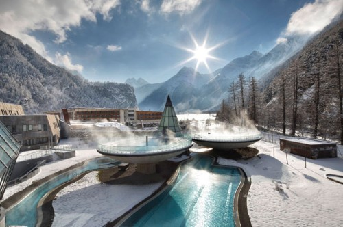 Austria's Beautiful Mountainside Thermal Retreat
