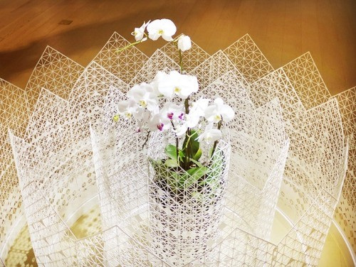 Elaborate Paper Design Forms Gorgeous Garden Fence