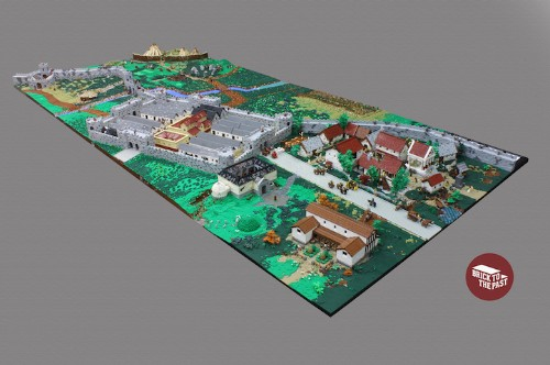 History Lovers Reconstruct a Roman Empire Display Entirely Out of LEGOs