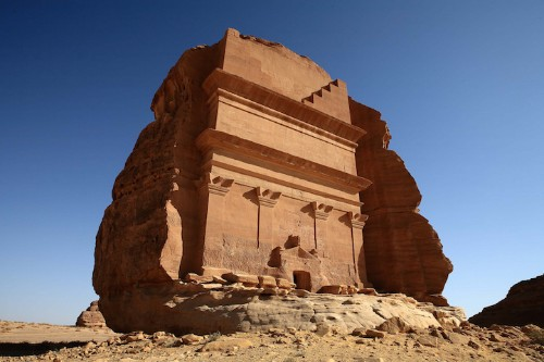 Ancient Tomb Chiseled From a Solitary Rock in Saudi Arabia