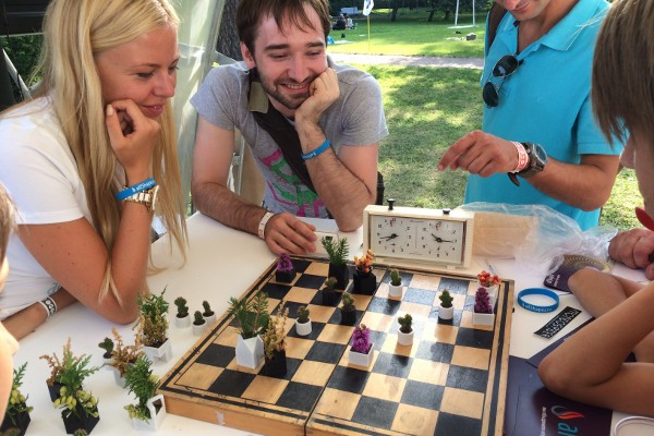 3D-Printed Chess Set Turns Each Piece into a Miniature Planter