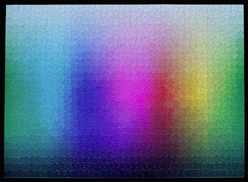 Stunning 1,000-Piece CMYK Color Gamut Jigsaw Puzzle