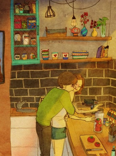 Charming Watercolor Illustrations Explore the Simple Moments of Love