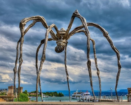 Towering Spider Sculpture Reflects a Mother's Strength