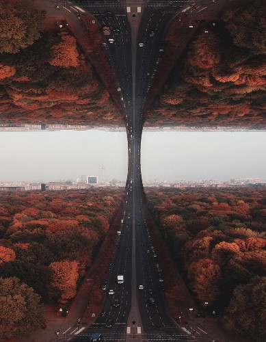 Photographer Flips and Folds the World to Create Surreal Inception-Like Landscapes