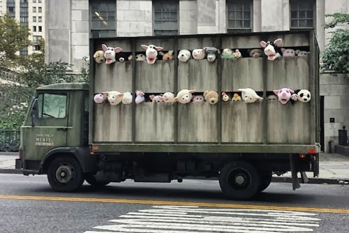 Banksy's Disturbing Stuffed Animals Truck Roams New York